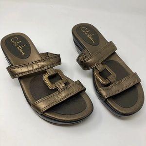 Cole Haan bronze sandals slides s 7B 7